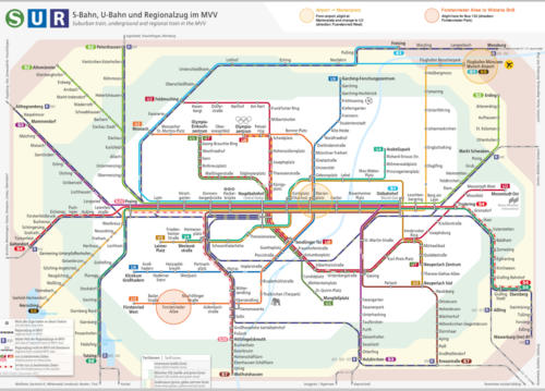 Munich Transport Map - directions from Airport