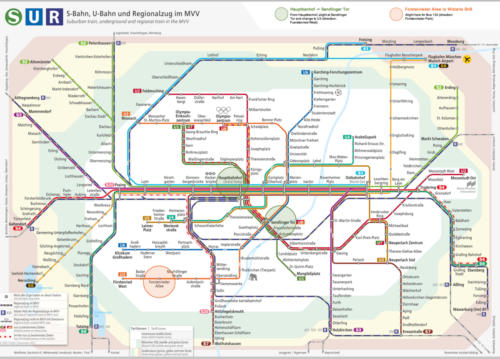 Munich Transport Map - directions from Station